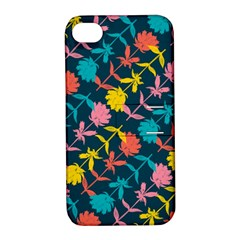 Colorful Floral Pattern Apple Iphone 4/4s Hardshell Case With Stand by DanaeStudio