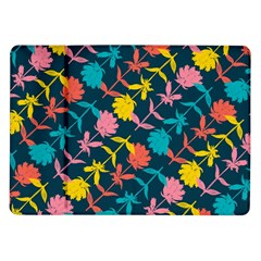 Colorful Floral Pattern Samsung Galaxy Tab 10 1  P7500 Flip Case by DanaeStudio