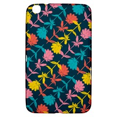 Colorful Floral Pattern Samsung Galaxy Tab 3 (8 ) T3100 Hardshell Case  by DanaeStudio