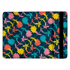 Colorful Floral Pattern Samsung Galaxy Tab Pro 12 2  Flip Case by DanaeStudio