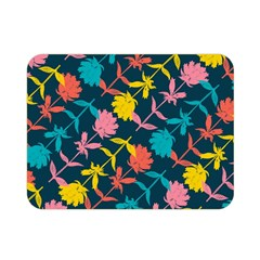 Colorful Floral Pattern Double Sided Flano Blanket (mini)  by DanaeStudio