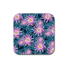 Whimsical Garden Rubber Coaster (square)  by DanaeStudio