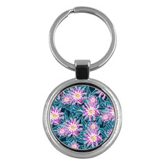 Whimsical Garden Key Chains (round)  by DanaeStudio