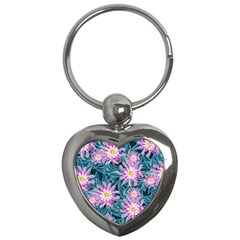 Whimsical Garden Key Chains (heart)  by DanaeStudio