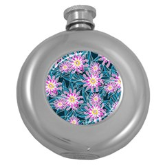 Whimsical Garden Round Hip Flask (5 Oz) by DanaeStudio