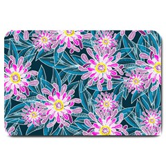Whimsical Garden Large Doormat  by DanaeStudio