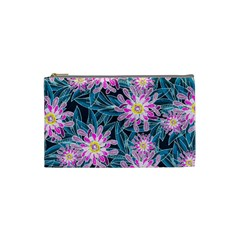 Whimsical Garden Cosmetic Bag (small)  by DanaeStudio