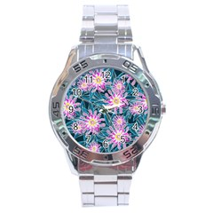 Whimsical Garden Stainless Steel Analogue Watch by DanaeStudio