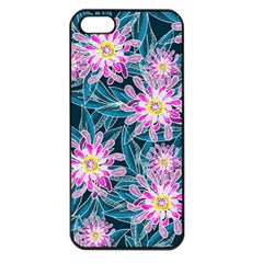 Whimsical Garden Apple Iphone 5 Seamless Case (black) by DanaeStudio