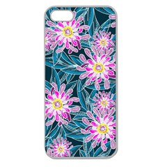 Whimsical Garden Apple Seamless Iphone 5 Case (clear) by DanaeStudio