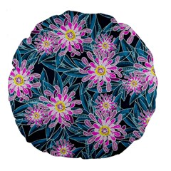 Whimsical Garden Large 18  Premium Flano Round Cushions by DanaeStudio