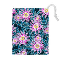 Whimsical Garden Drawstring Pouches (extra Large) by DanaeStudio