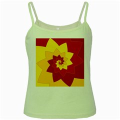Flower Blossom Spiral Design  Red Yellow Green Spaghetti Tank by designworld65