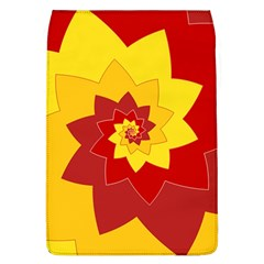 Flower Blossom Spiral Design  Red Yellow Flap Covers (l)  by designworld65
