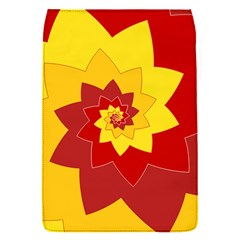 Flower Blossom Spiral Design  Red Yellow Flap Covers (s)  by designworld65