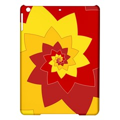Flower Blossom Spiral Design  Red Yellow Ipad Air Hardshell Cases by designworld65