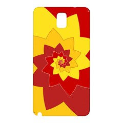 Flower Blossom Spiral Design  Red Yellow Samsung Galaxy Note 3 N9005 Hardshell Back Case by designworld65