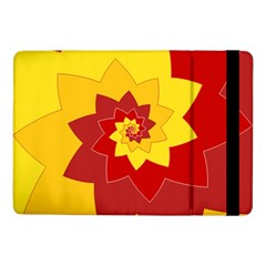 Flower Blossom Spiral Design  Red Yellow Samsung Galaxy Tab Pro 10 1  Flip Case by designworld65