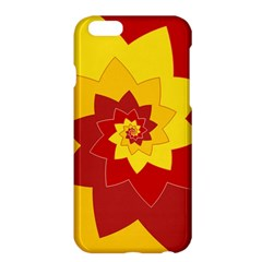 Flower Blossom Spiral Design  Red Yellow Apple Iphone 6 Plus/6s Plus Hardshell Case by designworld65