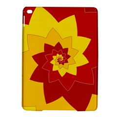 Flower Blossom Spiral Design  Red Yellow Ipad Air 2 Hardshell Cases by designworld65