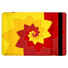 Flower Blossom Spiral Design  Red Yellow Ipad Air 2 Flip by designworld65
