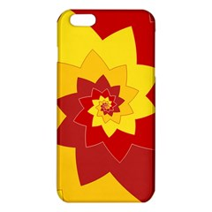 Flower Blossom Spiral Design  Red Yellow Iphone 6 Plus/6s Plus Tpu Case by designworld65