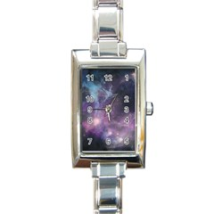 Blue Galaxy  Rectangle Italian Charm Watch by DanaeStudio