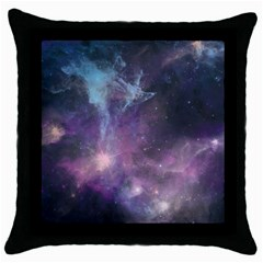 Blue Galaxy  Throw Pillow Case (black) by DanaeStudio