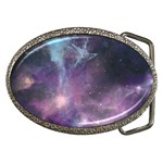 Blue Galaxy  Belt Buckles Front