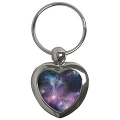 Blue Galaxy  Key Chains (heart)  by DanaeStudio