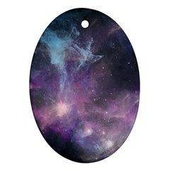 Blue Galaxy  Oval Ornament (two Sides) by DanaeStudio