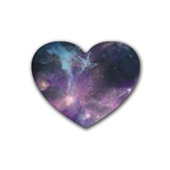 Blue Galaxy  Heart Coaster (4 Pack)  by DanaeStudio