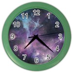 Blue Galaxy  Color Wall Clocks Front