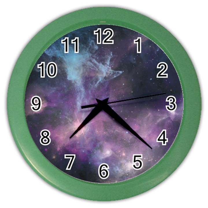 Blue Galaxy  Color Wall Clocks