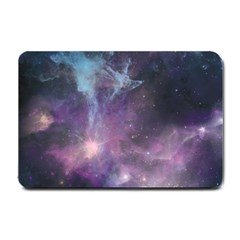 Blue Galaxy  Small Doormat  by DanaeStudio