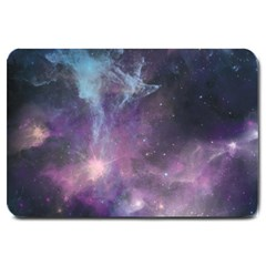 Blue Galaxy  Large Doormat  by DanaeStudio