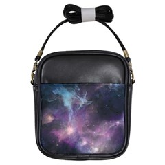 Blue Galaxy  Girls Sling Bags by DanaeStudio