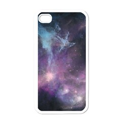 Blue Galaxy  Apple Iphone 4 Case (white) by DanaeStudio