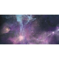 Blue Galaxy  You Are Invited 3d Greeting Card (8x4) by DanaeStudio