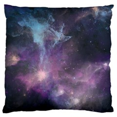 Blue Galaxy  Large Cushion Case (one Side) by DanaeStudio