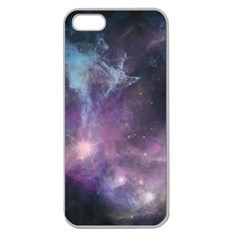 Blue Galaxy  Apple Seamless Iphone 5 Case (clear) by DanaeStudio