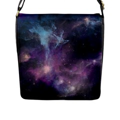 Blue Galaxy  Flap Messenger Bag (l)  by DanaeStudio