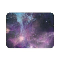 Blue Galaxy  Double Sided Flano Blanket (mini)  by DanaeStudio