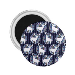 Geometric Deer Retro Pattern 2 25  Magnets by DanaeStudio
