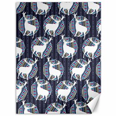 Geometric Deer Retro Pattern Canvas 36  X 48   by DanaeStudio
