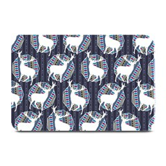 Geometric Deer Retro Pattern Plate Mats by DanaeStudio