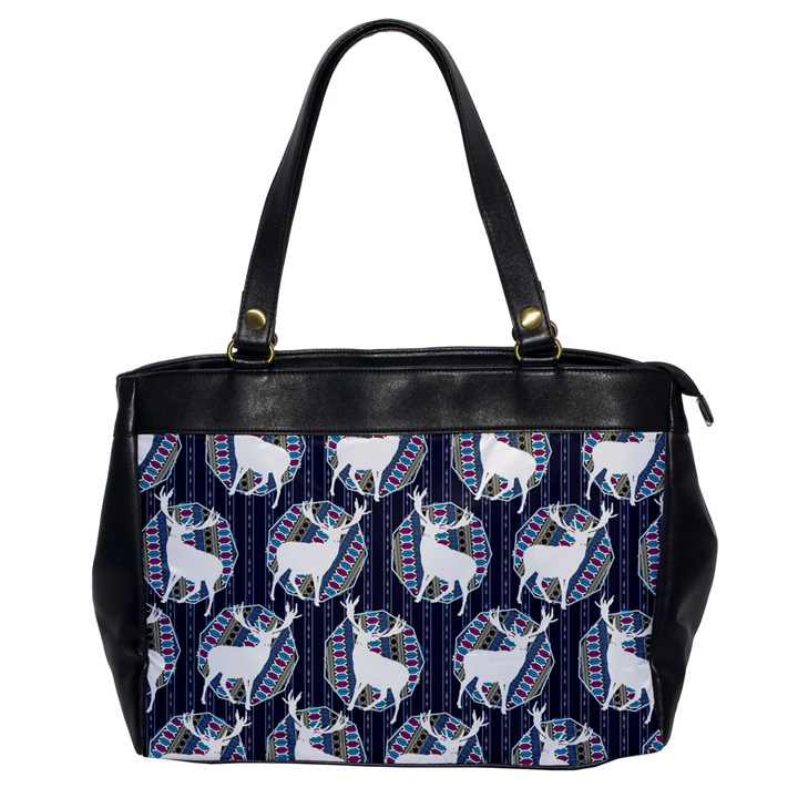 Geometric Deer Retro Pattern Office Handbags