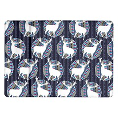 Geometric Deer Retro Pattern Samsung Galaxy Tab 10 1  P7500 Flip Case by DanaeStudio