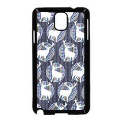 Geometric Deer Retro Pattern Samsung Galaxy Note 3 Neo Hardshell Case (black) by DanaeStudio