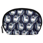 Geometric Deer Retro Pattern Accessory Pouches (Large)  Front